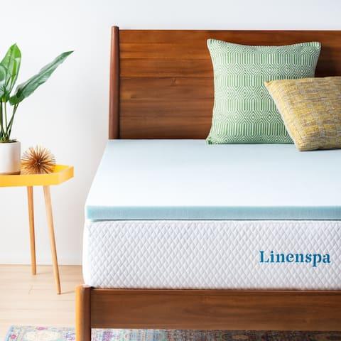 Linenspa Essentials 2-inch Gel Memory Foam Mattress Topper