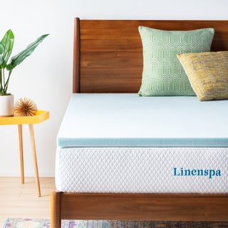 Link to Linenspa Essentials 2-inch Gel Memory Foam Mattress Topper - Blue Similar Items in Mattress Pads & Toppers