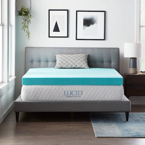 4-inch SureCool Gel Infused Memory Foam Mattress Topperby LUCID® Comfort Collection