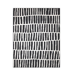 "Carbon Loft McCoy Handmade Geometric Wool Black and White Area Rug - 7'6"" x 9'6"""