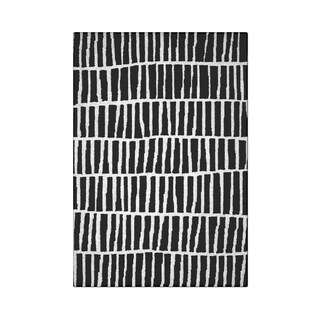 Carbon Loft McCoy Handmade Abstract Stripe Black and White Wool Area Rug - 4' x 6'