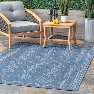The Curated Nomad Delmar Moroccan Diamonds Indoor/Outdoor Area Rug