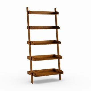 The Gray Barn Peaceful Pine Weathered Oak Leaning Bookcase