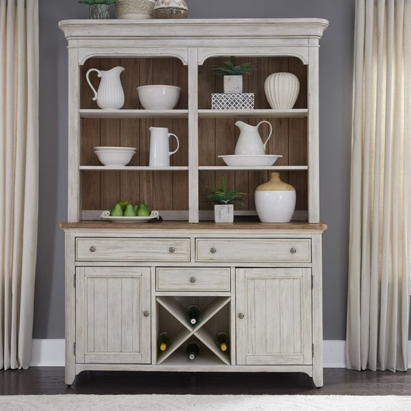 White Dining Room Hutch: Shop The Gray Barn Patchwork Farms Antique White Hutch And