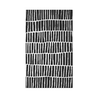 Carbon Loft McCoy Handmade Geometric Wool Black and White Area Rug - 3' x 5'