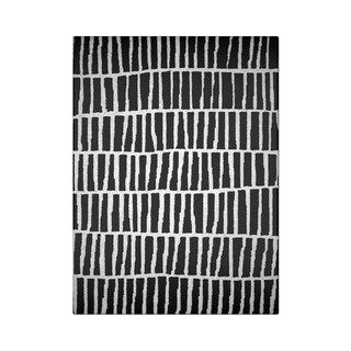 "Carbon Loft McCoy Handmade Geometric Wool Black and White Area Rug - 8'6"" x 11'6"""