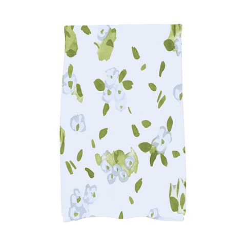 Forget Me Not Collage 16x25 inch Floral Hand Towel