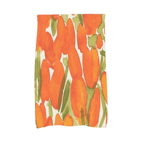 Sunset Tulip 16x25 inch Floral Hand Towel