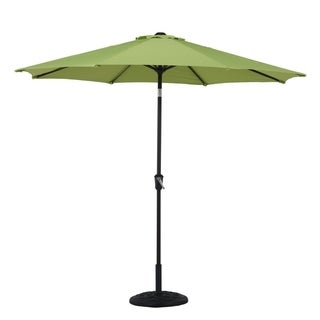 Grand Patio 9' Outdoor Aluminum Market Patio Umbrella, 8 Ribs, Green