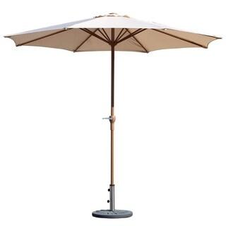 Grand patio Market Round Umbrella, Patio Lawn Umbrella,Dark Champagne