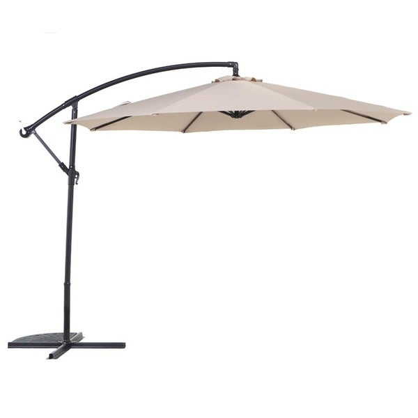 Grand Patio 10 Ft Offset Cantilever Outdoor Patio Umbrella, Beige