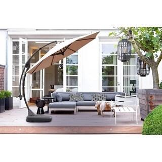 Grand patio Outdoor 11.5 Ft Offset Hanging Patio Umbrella, Champange
