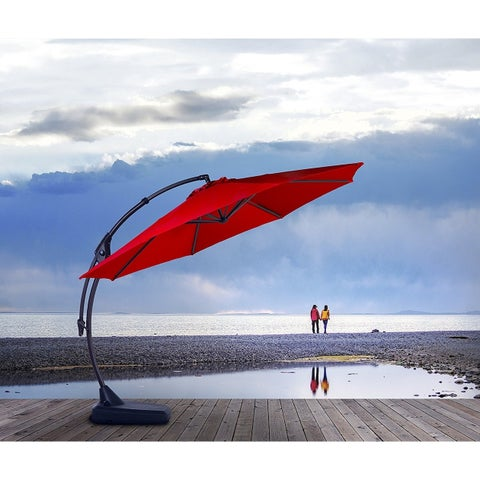 Grand patio Outdoor 10 FT Patio Umbrella with Crank Handle and Base
