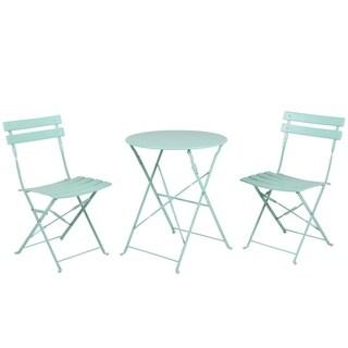 Grand patio Outdoor Folding Bistro Patio Furniture Sets,Macaron Blue