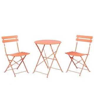 Grand patio Backyard Lawn 3-Pcs Steel Frame Furniture Sets,Orange
