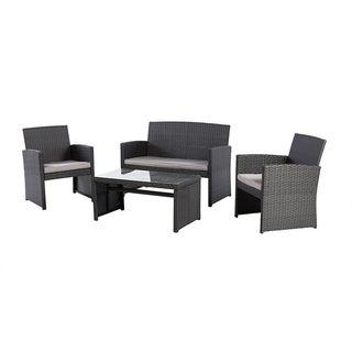 Grand patio Modern Outdoor Garden, Patio 4 Pcs Furniture Set (Black)