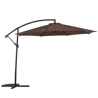 Grand Patio 10 Ft Offset Cantilever Outdoor Patio Umbrella, Brown
