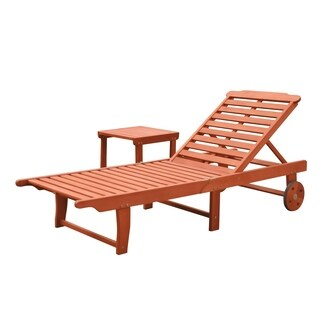 Havenside Home Surfside Outdoor Patio Wood Beach & Pool Lounge Set