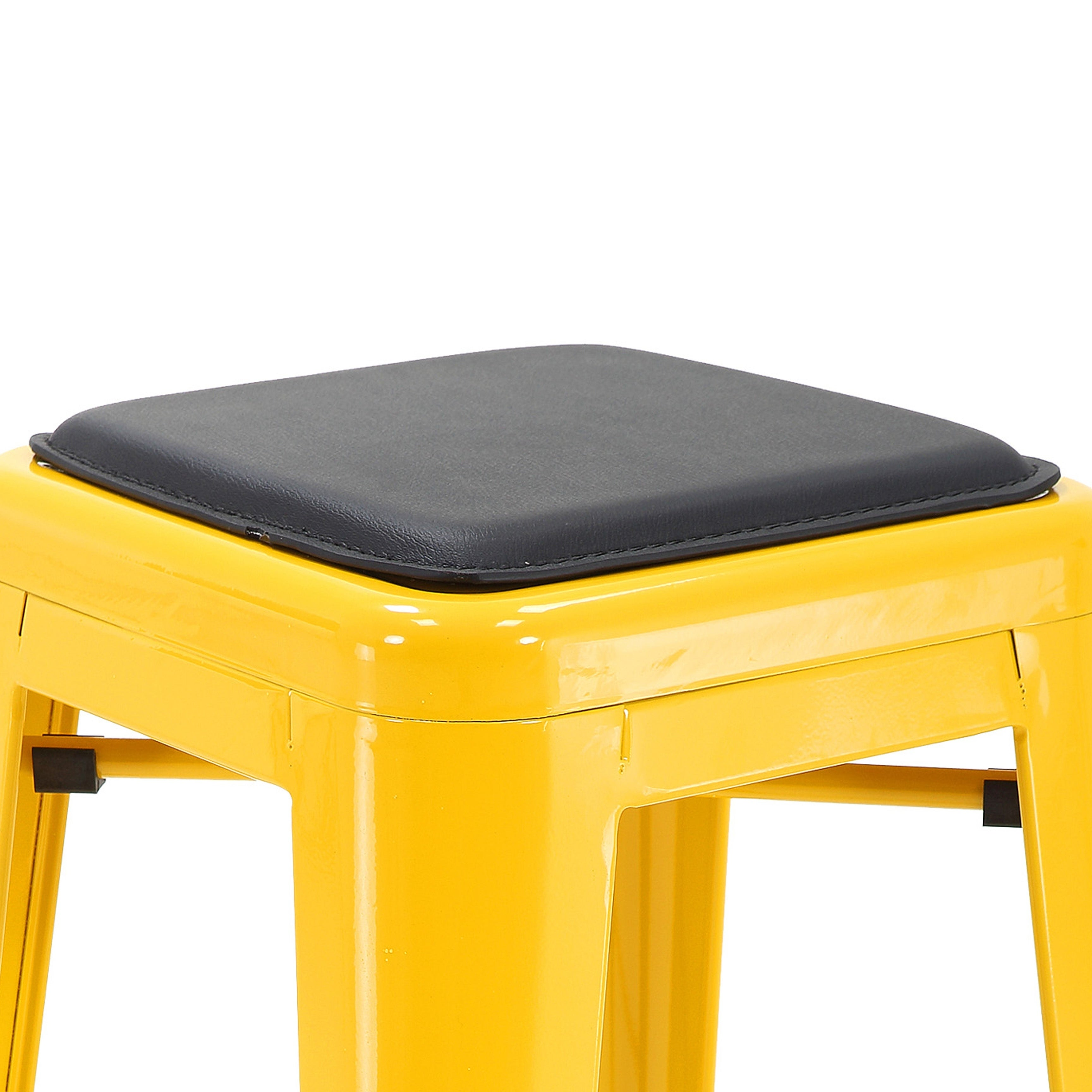 Pleasant Porthos Home Seat Cushion For Metal Counter Or Bar Stool Faux Leather Dailytribune Chair Design For Home Dailytribuneorg