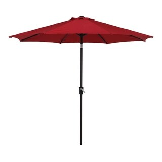 Grand Patio Outdoor Market Umbrella, Patio Umbrella, 9.6 Ft, Red