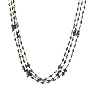 Handmade Ethereal Beauty Long Multi-Strand Mixed Stones Necklace (Thailand)