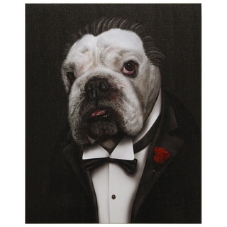 """Pets Rock™ """"Dog Father"""" Framed Graphic Art Print on Wrapped Canvas"""