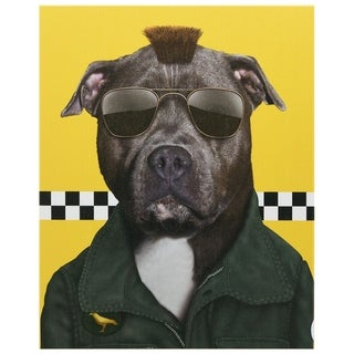 """Pets Rock™ """"Cabbie"""" Framed Graphic Art Print on Wrapped Canvas"""