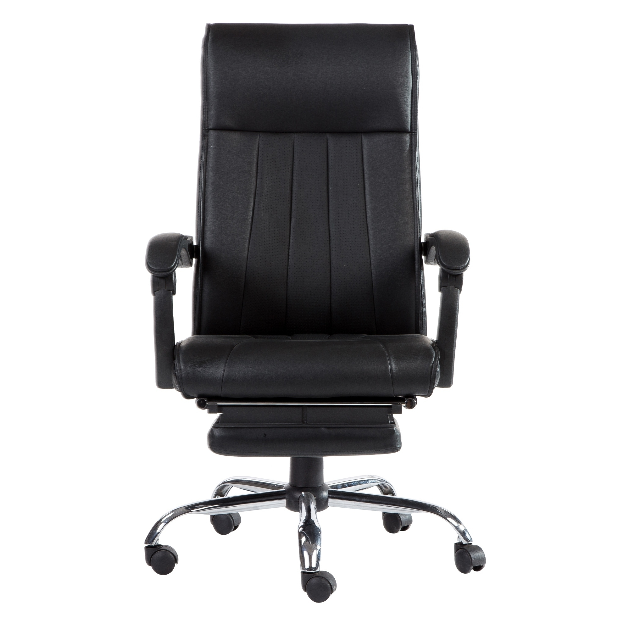 Executive Office Chair Leather Gaming Chair With Footrest Recliner Computer Desk