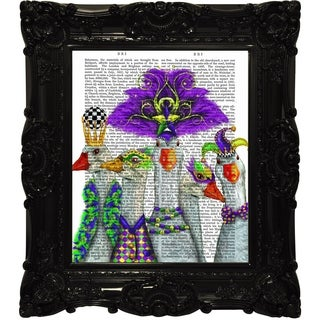 """Empire Art """"Best Friends"""" Funky, Fab, and Chic Canvas Giclee under glass w/ High Gloss Baroque Frames"""