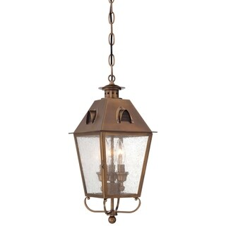 Minka Outdoor 3 Light Chain Hung In English Brass