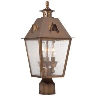 Minka Outdoor 3 Light Post Mount In English Brass