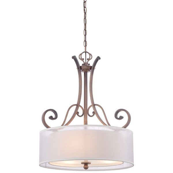 Minka Lavery 3 Light Pendant In St. James Gold