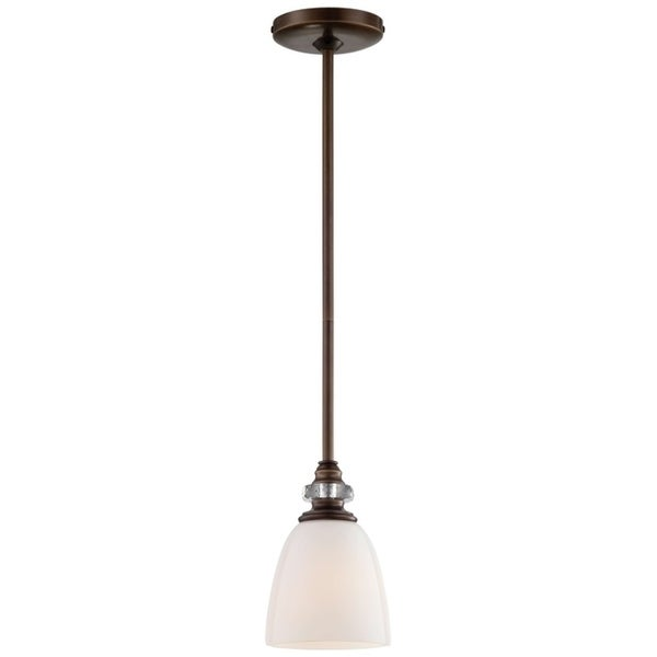Minka Lavery Thorndale 1 Light Mini Pendant In Dark Noble Bronze