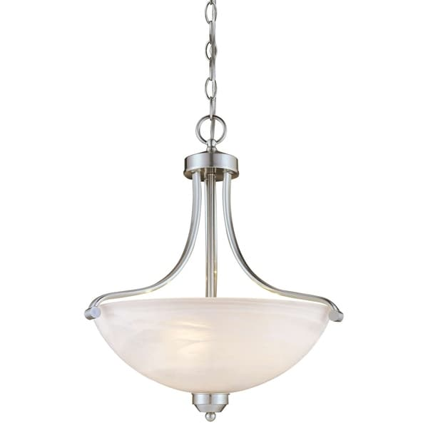 Minka Lavery Paradox 3 Light Pendant In Brushed Nickel