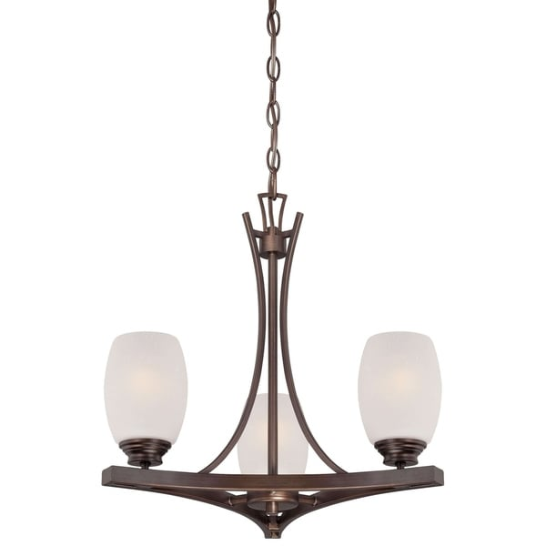 Minka Lavery City Club 3 Light Mini Chandelier In Dark Brushed Bronze (Painted)
