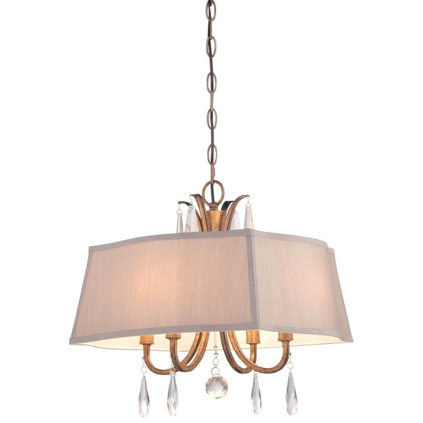 Minka Lavery 4 Light Pendant In Vintage Gold