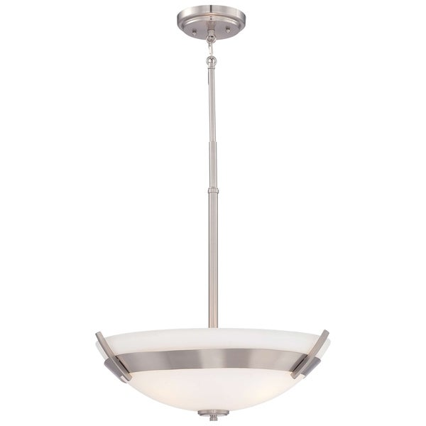 Minka Lavery Hudson Bay 3 Light Pendant In Brushed Nickel
