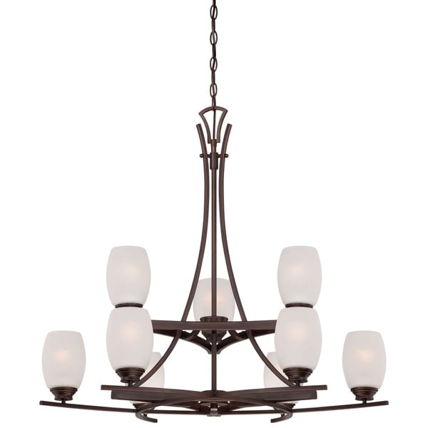 Minka Lavery City Club 9 Light Chandelier In Dark Brushed Bronze (Painted)