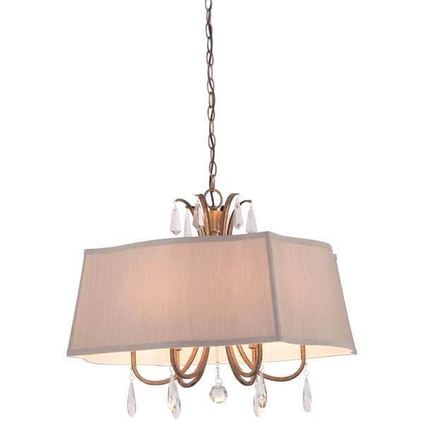 Minka Lavery 6 Light Pendant In Vintage Gold