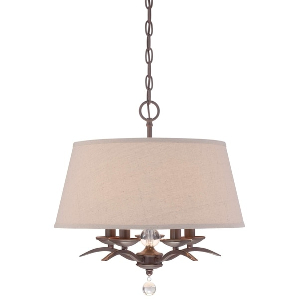 Minka Lavery 5 Light Pendant In Aged Kinston Bronze
