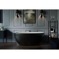 Aquatica Sensuality-Mini Black-White Freestanding Solid Surface Bathtub
