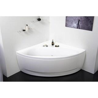 Aquatica Olivia-B-Wht Corner Acrylic Bathtub