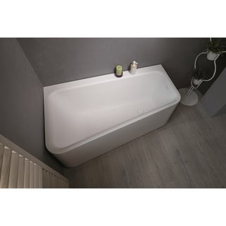 Aquatica Jane-Wht Solid Surface Corner Bathtub