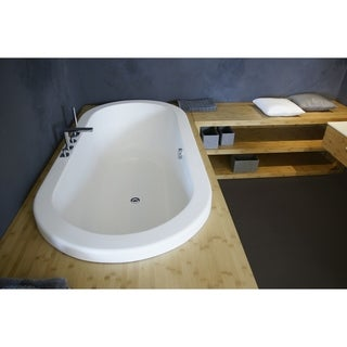 Aquatica Carol-Wht Drop In VelveX Bathtub - Fine Matte