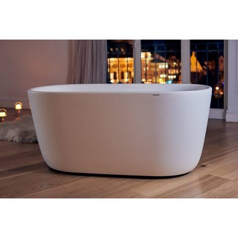 Aquatica Lullaby-Mini White Freestanding Solid Surface Bathtub