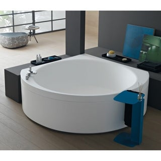 Aquatica Suri-Wht Corner VelveX Bathtub - Fine Matte