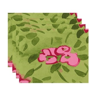 Forget Me Not 18x14 inch Floral Print Placemat (Set of 4)