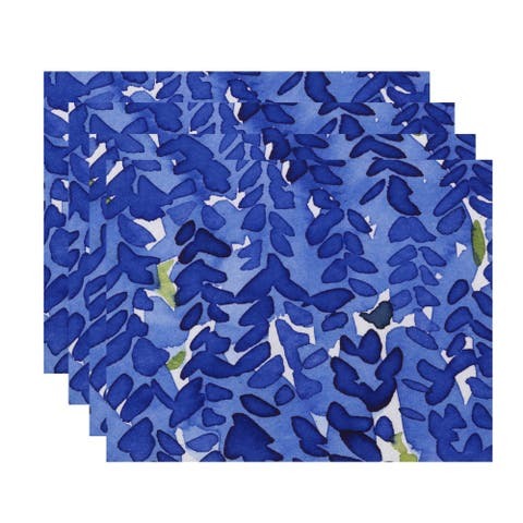 Flower Bell 18x14 inch Floral Print Placemat (Set of 4)