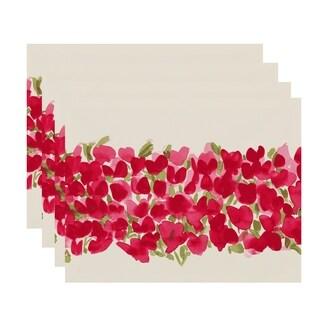Tulip Blossom Arrangement 18x14 inch Floral Print Placemat (Set of 4)