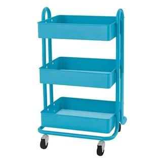 RASKOG Utility Rolling Cart - Turquoise